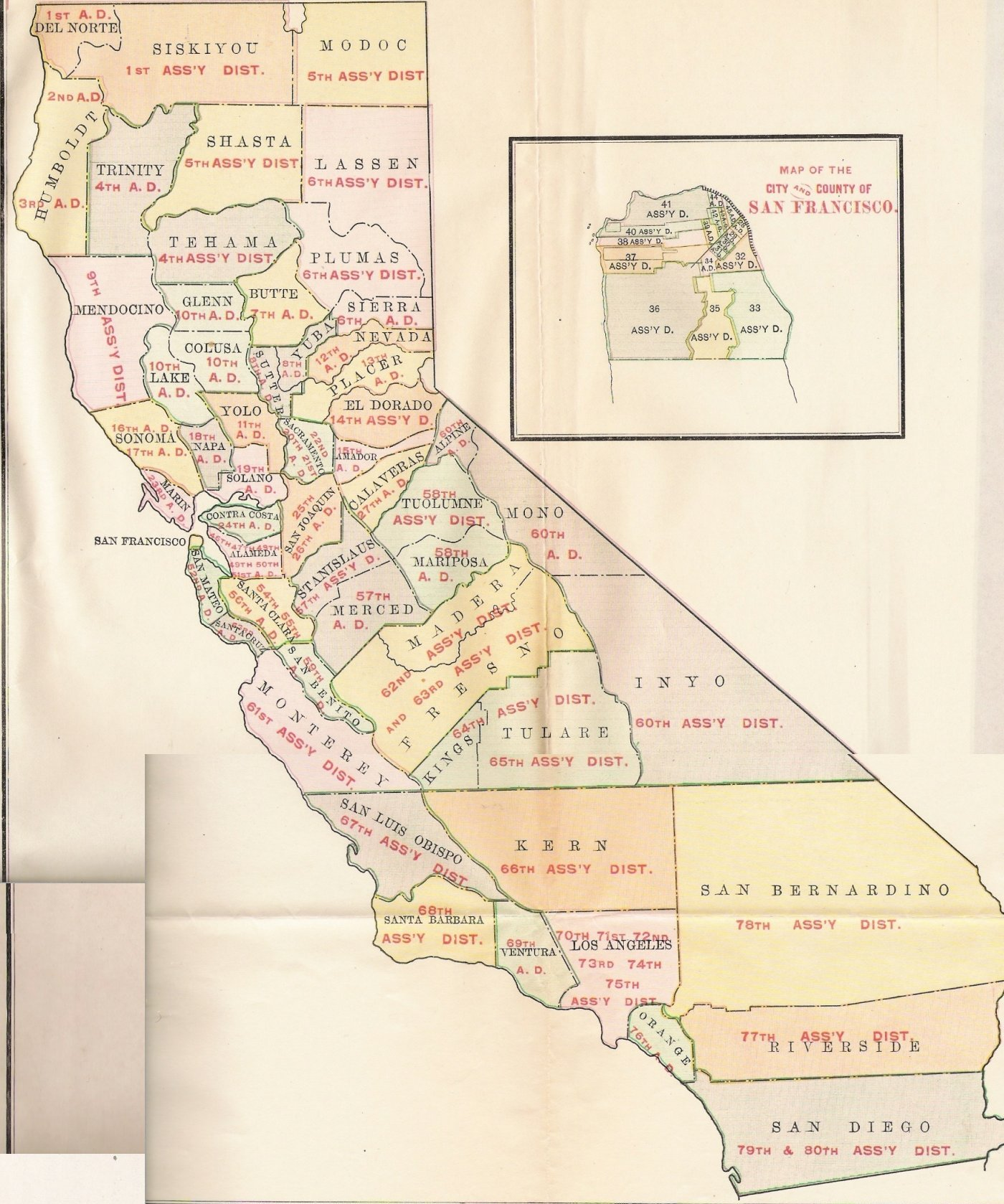 JoinCalifornia Redistricting - 1st us rep district ny map