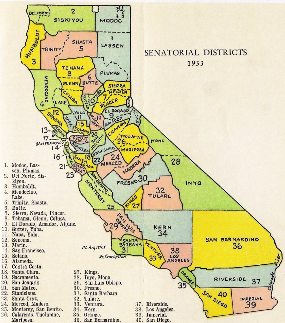 source california legislature at sacramento handbook 1939 note the 1930 reapportionment expanded the number of congressional districts from 11 to 20