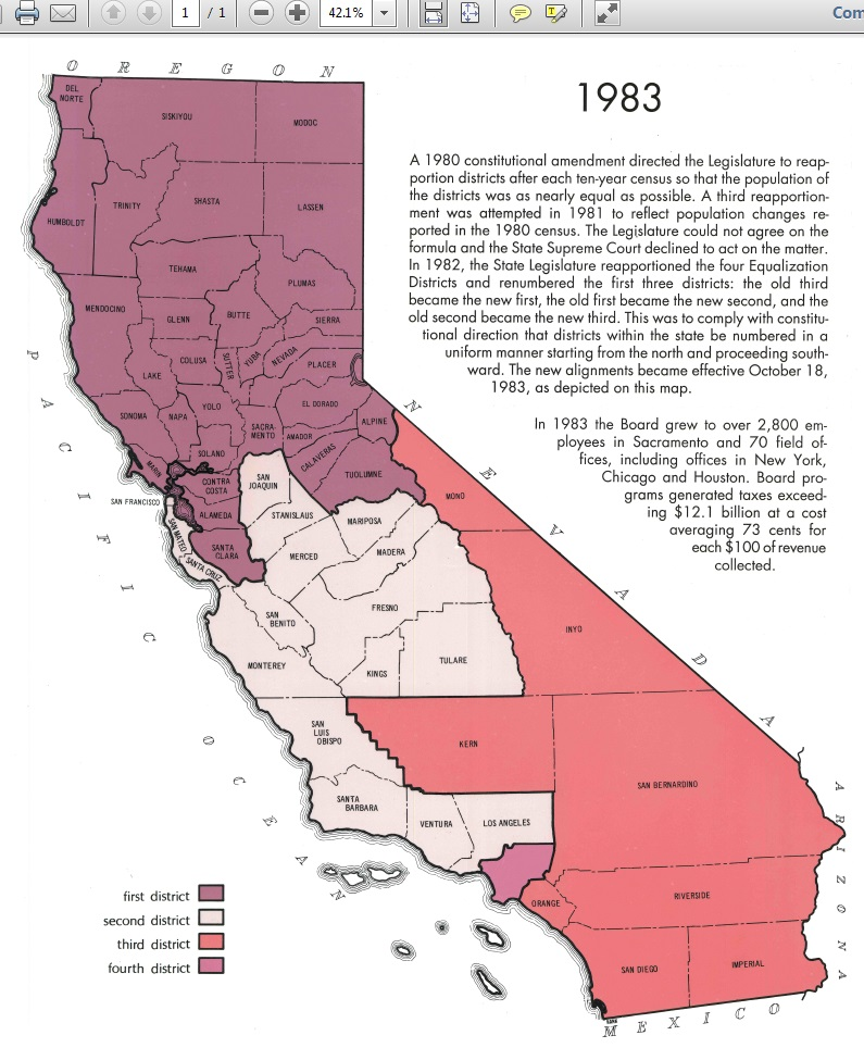 source uc berkeley igs california redistricting resources note the 1980 reapportionment expanded the number of congressional districts from 43 to 45