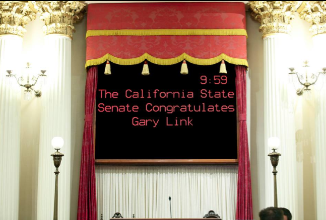 Gary Link Departs the Senate